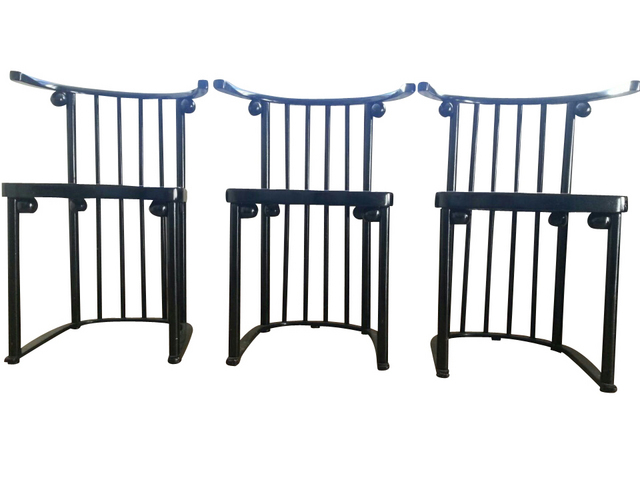 chaises josef hoffmann fledermaus d ja vendu. Black Bedroom Furniture Sets. Home Design Ideas