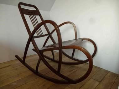 rocking chair thonet n 511 josef hoffmann schaukelfauteuil d ja vendu. Black Bedroom Furniture Sets. Home Design Ideas